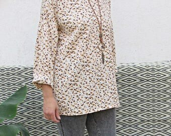 Autumnal flowery blouse