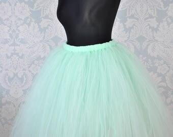 Mint Adult Tutu, Adult Tutu Skirt, Bridesmaid Tutu Skirt, Flower Girl Tutu, Bridal Tutu, Floor Length Tutu, Wedding Tutu, Women Tutu