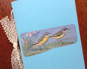 Vintage birds ephemera junk journal