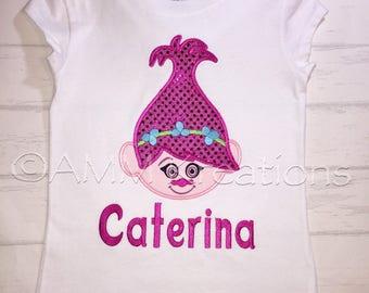 Personalized Girls Trolls Poppy Boutique Shirt or Onesie