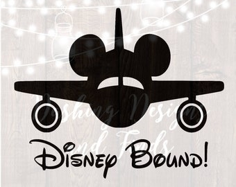 DIGITAL DOWNLOAD svg png disney bound family vacation airplane mickey ears silhouette cricut cutting file vinyl HTV boy girl shirt print