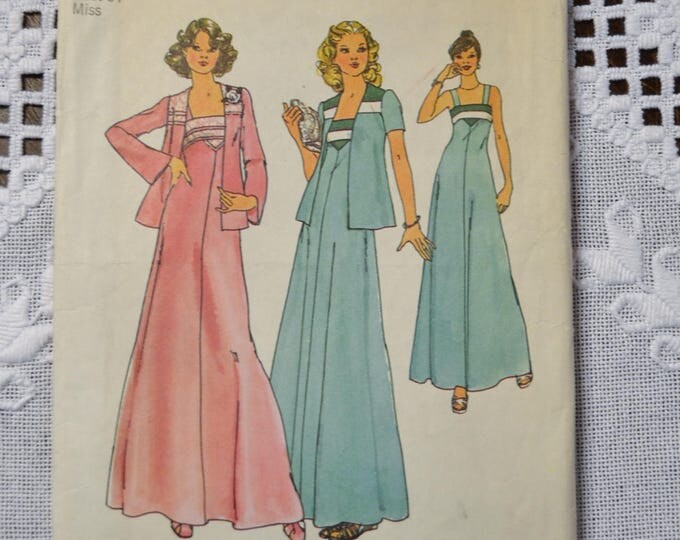 Simplicity 7269 Sewing Pattern Misses Dress and Jacket Size 12 DIY Vintage Clothing Fashion Sewing Crafts PanchosPorch
