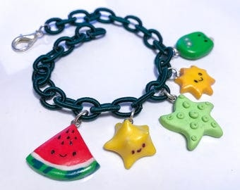 Summer Bracelets//estate//Beach//Watermelon//coconut//gift for her//birthday