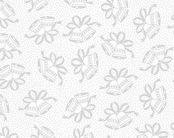 Wedding Bells - Something Old, Something New - Quilting Treasures 22282 White/Platinum - Priced by the Half Yard