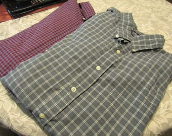 Men's Plaid/Checkered Long Sleeve Shirt Bundle - Size 3XL