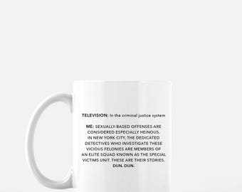 Law and Order SVU - Show Intro - White 11 fl oz. Coffee Mug