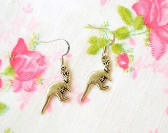 Kangaroo Earrings - Kangaroo Necklace - Kangaroo Jewelry - Kangaroo Gift - Kangaroo Charm - Australia Jewelry - Australia Gift, Gift For Her