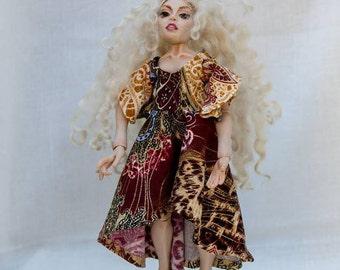 Lovely BJD Handmade OOAK Polymer Clay Art Doll Ball Jointed Doll 20cm