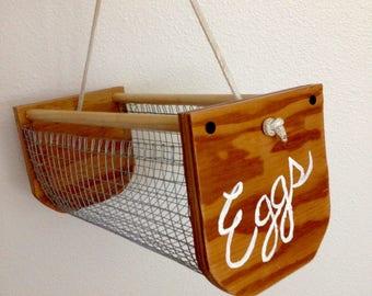 Clam hod style Egg/Garden Basket