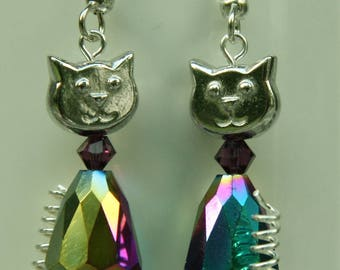 Mystic Topaz Sparkel Cats with spring tail