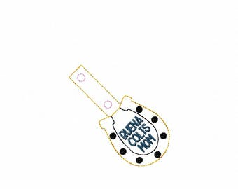 Buena Colts Mom - Horseshoe - Key Fob In The Hoop - DIGITAL Embroidery DESIGN
