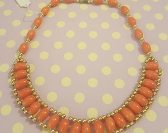Orange vintage necklace