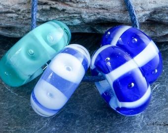 Blue Bubble Bead Charm Bead Set