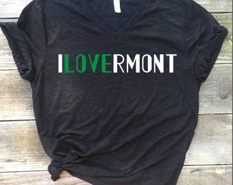 I love vermont shirt, cute mom shirt, graphic tee, vermont, vermont gift, burlington, ilovermont, uvm, vermont shirt,