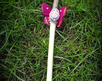 Handcrafted chestnut faery wand (C) blessed with jasmine oil