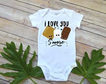 Baby Shower Gift, I love you Smore, Cute Baby Gift, Cute Baby Shirt, Niece Gift, Funny Baby Gift, Camping Shirt, Newborn Baby Gift, Smores