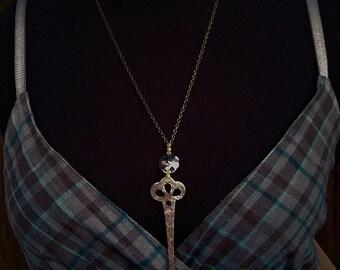 skeleton key necklace rustic antique vintage ~ antique key pendant necklace