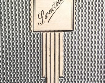 Art Deco Sterling Silver Cigarette Case, Vintage Cigarette Case, Antique Silver, Machine Work Cover, Art Deco Cartouche, Engraved Sweetness