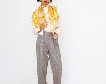Vintage Gianni Versace Silk Scarf // blanket scarf, bright silk, striped