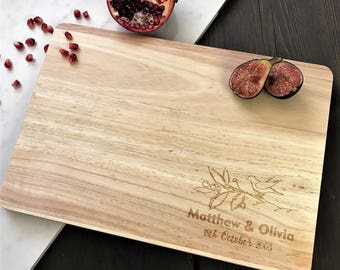 Personalised Chopping Board - Custom Cutting Board  Personalised Wedding Cutting Board - Chopping Board Wedding Gift - Kitchen Baking Gifts