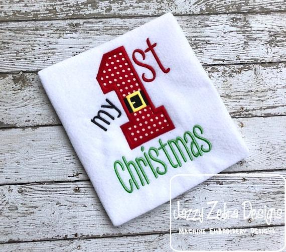 My 1st Christmas Christmas saying embroidery design - Christmas embroidery design - 1st Christmas embroidery design - My 1st Christmas
