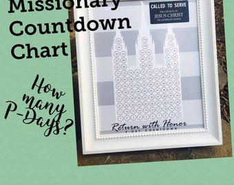 LDS Missionary Countdown Chart