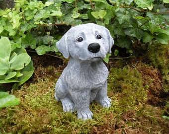 Dog Memorial Statue, Concrete Labrador Retriever Statue,Lab Statue,Retriever Statue,Mixed Breed Dog Statue,Concrete Dog