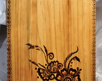 "Cutting Board, Woodburned, 13""x8"" (32 cm x 20 cm)"