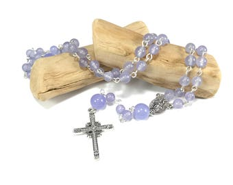 Purple Aventurine Rosary; Purple Rosary; Gemstone Rosary; Purple Prayer Beads; Catholic Rosary, Crystal Healing Rosary, Healing Prayer Beads