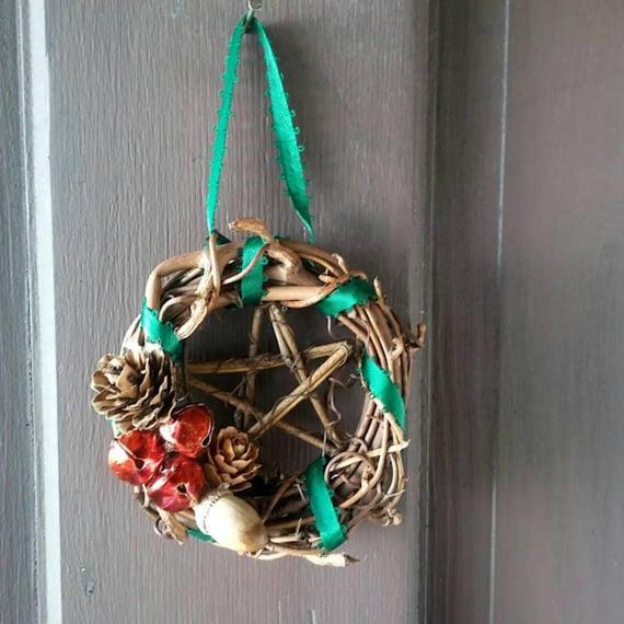 Pagan Yule Ornaments, Small Wreath Decoration, Yule Ornaments, Ornament Wreath, Pagan, Yule, Decorations, Ornaments, Pagan Yule Gifts
