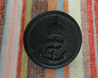 Naval Black Button 21mm, Anchor Button