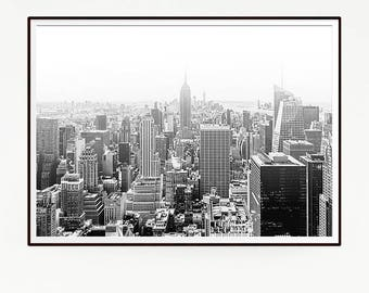 New York City Wall Deco Print Poster Art Landscape Photo Photography Skyline Retro Vintage Sun View Fashion EEUU United States Country 1038