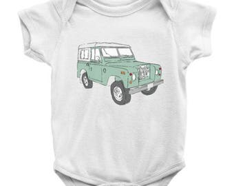 Infant Land Rover clothing, Vintage Land Rover onesie, Baby Land Rover Gift