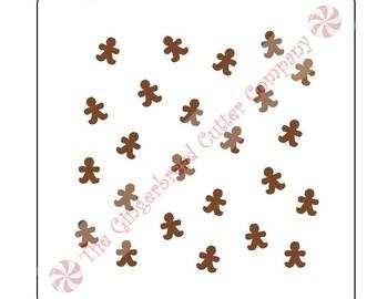 Gingerbread Man Background Cookie Stencil