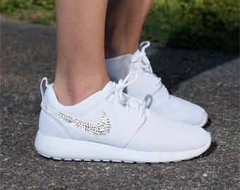 Swarovski Nike Roshe Run -  Bling Nikes - Custom Jeweled Sneakers - Bling Kicks - Crystallized Nikes - Wedding Nikes - Womens Athletic Gift