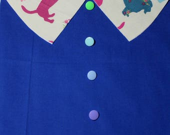 """Apron """"BALOCCO-Picture Click"""" classic shirt collar-school kindergarten painting-Waldorf-Montessori-for children and adults"""