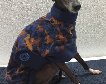 Cozy Cotton Flannel Jacket Coat Designed for Italian Greyhounds - Size Small