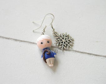 Jack Frost Inspired, the 5 legends, Rise of the Guardians, earrings