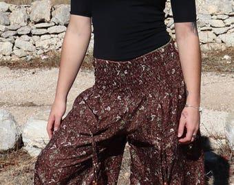 Womens Pants Summer Pants Wide Harem Pants Buggy Trousers Meditation Pants Afghani Pants Fisherman Trousers Yoga Pants Tribal Gypsy Pants