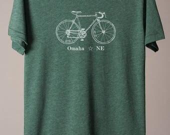 Omaha t-shirt, Omaha Nebraska t-shirt, Omaha tee, Omaha bike tee, bicycle tshirt