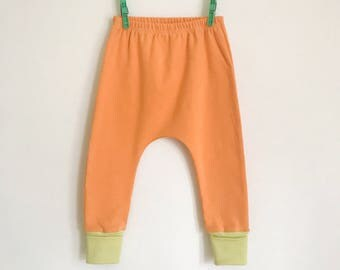 upcycled slouchy baby pants | melon