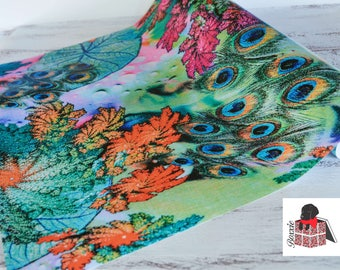 Peacock botanical abstract wrapping paper sheets gift wrap GWWC16