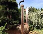 Abstract Metal Garden Sculpture by Cristi Mason-Rivera