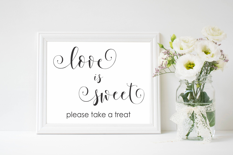 Love is Sweet Wedding Sign, Wedding Decoration, Wedding Signage ...