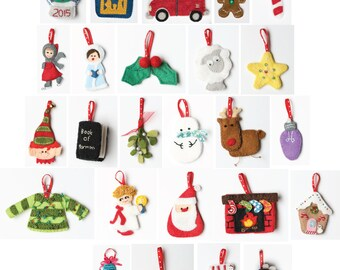 Christmas tree Advent Calendar, christmas countdown, sewing pattern, instructions,