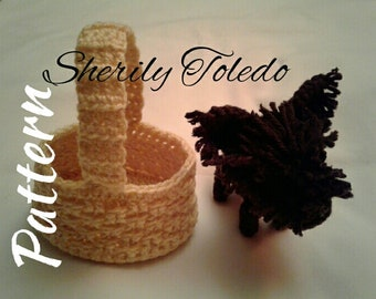 PATTERN - Cairn Terrier in basket - Toto - Crochet Amigurumi Pattern