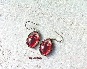 """Flamenco dancer"" - Oval Cabochon earrings"