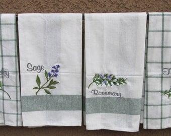 Herbs towel set