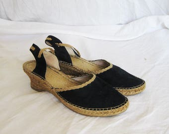 Jute and Suede Espadrilles 8 39