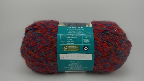 Loops Threads Country Loom Super Bulky Acrylic Yarn In Tapestry 5oz